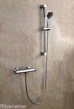 Thermostatic Bar Valve Mixer Shower Pack Inc Brass Valve & Rail Kit