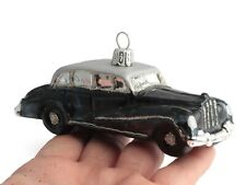 Czech glass vintage luxury classic car Christmas tree ornament decoration black