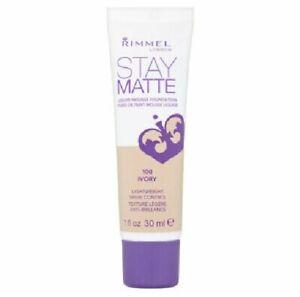 Rimmel London Stay Matte Liquid Mousse Foundation  100 IVORY - 30ML