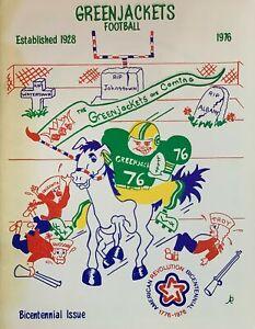 1976 Glens Falls Greenjackets Semi-Pro Football Program - Empire Football League