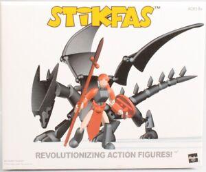 Stikfas Female Warrior with Dragon Figure Set Red AFK31D Mint in Box New MIB