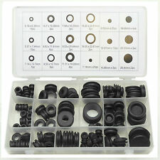 Grommet Set Rubber Blanking Open Closed Blind Grommets Assorted Sizes 125pc