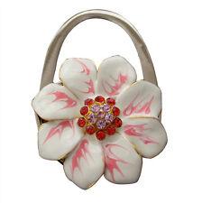 Sac à Main Crochet En Acier Inoxydable, Sac à main Porte-dans boîte cadeau, fleurs blanches