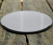 Espejo de Cristal Redondo Posavasos Vela Soporte de pie 12Cm