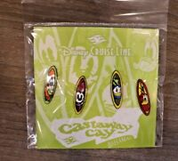 Disney Cruise Line DCL Booster Castaway Cay Bahamas Surfboards Set of 4 Pins NIP
