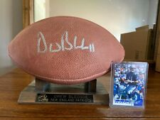 Drew Bledsoe Signed Football with stand and nameplate + autographed card