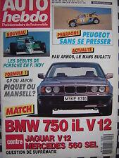 auto-hebdo 1987 MERCEDES 560 SEL / BMW 750 iL V12 / JAGUAR SOVEREIGN V12