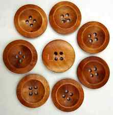 50Pcs Sewing Accessories With Big Size Round Wood Buttons 4 Holes 25mm US