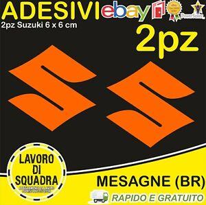 Kit 2 adesivi SUZUKI sticker GSX-R 600 750 1000 SV 650 INTRUDER BURGMAN ARANCIO