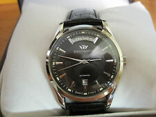 box 022 mans  stainless steel PHILIP  sunray  automatic big day, date watch