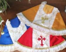 Infant of Prague Silk Handmade Gown Robe Fits 12 inch Jesus Statue Many Colors