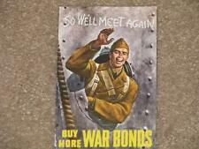 Buy More War Bonds, , Issued by the Treasury Dept. , unused vintage card