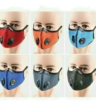 Cycling Face Mask With Reusable Filter Breathing Valves Sports Mask