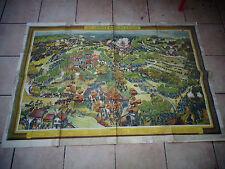 Ancienne Affiche Guerre 14.18 LES GRANDES BATAILLES D'ALSACE illustrée Auglay