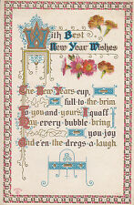 CH53.Vintage US Greetings Postcard. New Year