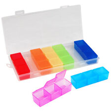 Weekly Pill Box Daily Organiser Medicine Tablet Storage Dispenser 7 Day Small
