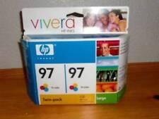 HP ~ Twin-pack 97 Tri-color Inkjet Print Cartridges