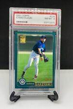 2001 Topps Ichiro Suzuki RC Rookie PSA 8 #726 Seattle Mariners