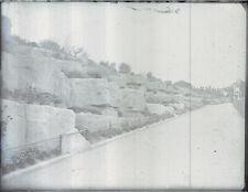 """Antique Vintage Glass Negative """"Pathway"""" Late 1800s 10.5cm x 8cm"""