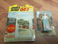 Vintage 1965 Gilbert James Bond Money Penny figure w/ package