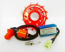 Performance Coil CDI & Cooling Fan+Spark Plug-139QMB & GY6-50cc & 150cc Scooters