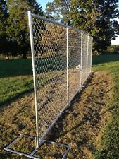 """Chain link fence panels 10'l x 6'h construction temp fence or """"rent-a-fence"""""""