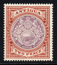 Antigua 2 Pence Stamp c1908-17 Mounted Mint Hinged (3506)