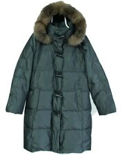 SCHNEIDERS Salzburg Elvira Womens Down Raccoon Fur Hooded Jacket Coat Size M