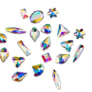 30 pcs Small Shape Top Crystal AB Czech Crystal Rhinestone Flatback Nail Art