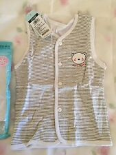 New With Tag Boys Kids Girl Child Baby stripe 100% Cotton Vest Singlet size 24m