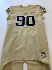 Game Worn Used Pittsburgh Panthers Pitt Football Jersey Nike Size 44 #90