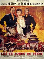 Affiche 60x80cm LES 55 JOURS DE PEKIN /55 DAYS AT PEKING (1963) Charlton Heston