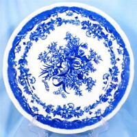 Bluemont China Japan Dinner Plate Persian Rose Flow Blue Vintage Floral Flowers