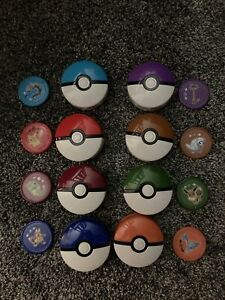 All 8 Pokemon 2019 McDonald's PokeBall Belt Clip Shooters Toys - with 8 Discs