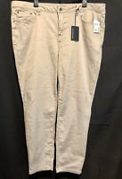nwt! Needle & Cloth-Pants Super Soft Stretch  Skinny Trouser Beige Plus Size 22W