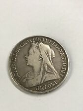 Queen Victoria 1895 LIX Silver Crown