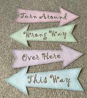 alice in Wonderland Party Signs birthday/Wedding decorations