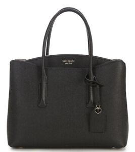 Kate Spade Margaux Large Convertible Satchel Bag Black $358