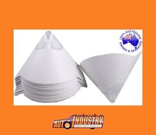 100 QUALITY PAPER CONE FILTER / STRAINER FINE PAINT FILTERS STRAINERS 190um