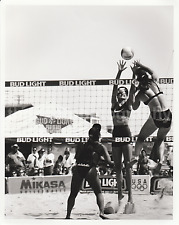 Action At The Net FOUND PHOTO 8x10 Pro VOLLEYBALL GIRLS bw FREE SHIPPING 72101