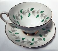 Vintage Crown Staffordshire Bone China Cup and Saucer