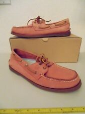SPERRY TOPSIDER WOMEN'S A/O WASHED RED (ROSE PINK) BOAT SHOES 9265588 SIZE:12-M