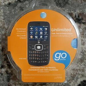 NEW Z432 128MB 2.4 Inch Cell Phone - Black (AT&T) Go Phone Prepaid - Sealed