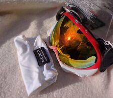 New Oakley Wisdom Snow Goggles Fire Iridium Lens Ski Snowboard