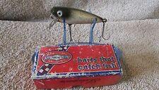 "Vintage Shakespeare Glo-Lite Pup Fishing Lure-2 1/2""-Black/White/Red   (J 1)"