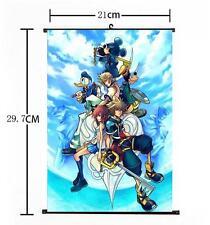 Hot Japan Anime Kingdom Hearts II Art Home Decor Poster Wall Scroll 21*30CM j125