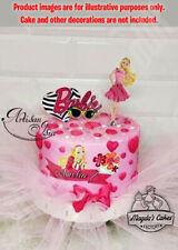 Barbie Casa De Ensueño caracteres Set Decoración Glaseado Oblea Edible Cake Topper A4