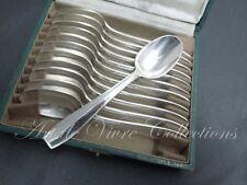 Christofle ATLAS 12 Coffee Spoons, Cuillères à Café 14cm, ART DECO Luc Lanel