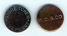WEST CAICOS SISAL COMPANY STORE TOKEN ONE ( 1 )  PENNY 2 CMS PRE WORLD WAR I