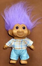 1991 T.N.T Purple Hair Troll Clothed Doll Great Condition
